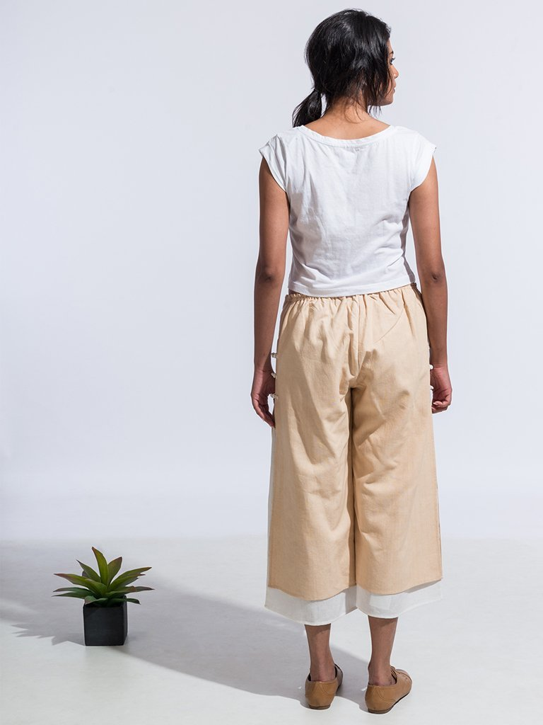 Brown Sustainable 4 ply khadi ana capri pants image 3