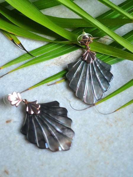 Abalone Earrings - Jewellery - IKKIVI - Shop Sustainable & Ethical Fashion