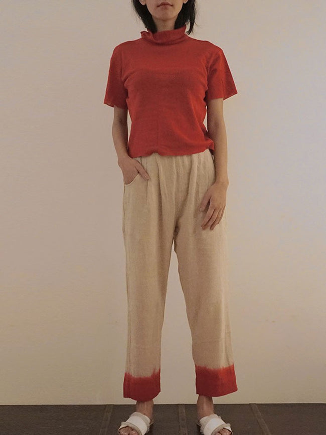Scarlet Dipped Pants - TROUSERS - IKKIVI - Shop Sustainable & Ethical Fashion