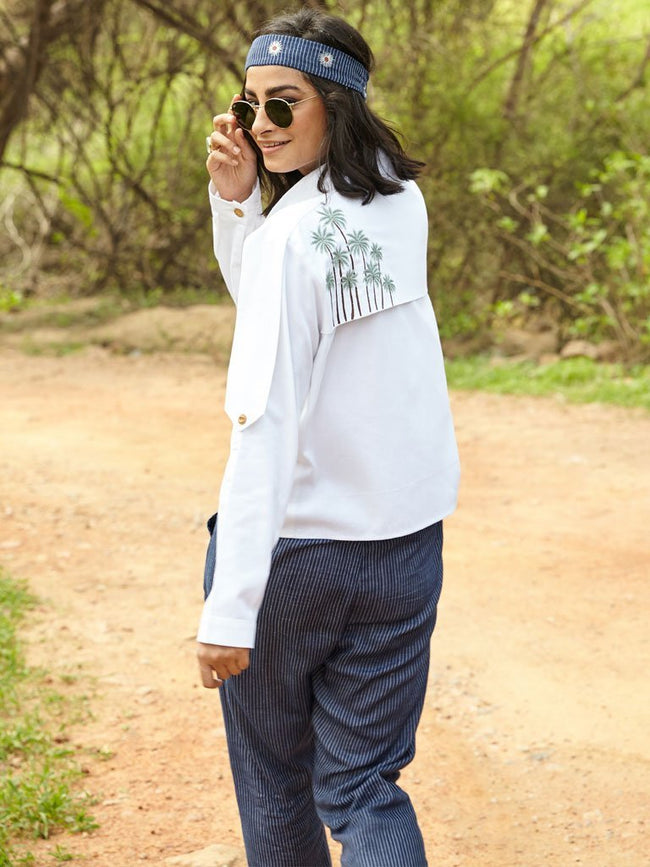Beneath The Palms Shirt Jacket - JACKETS - IKKIVI - Shop Sustainable & Ethical Fashion