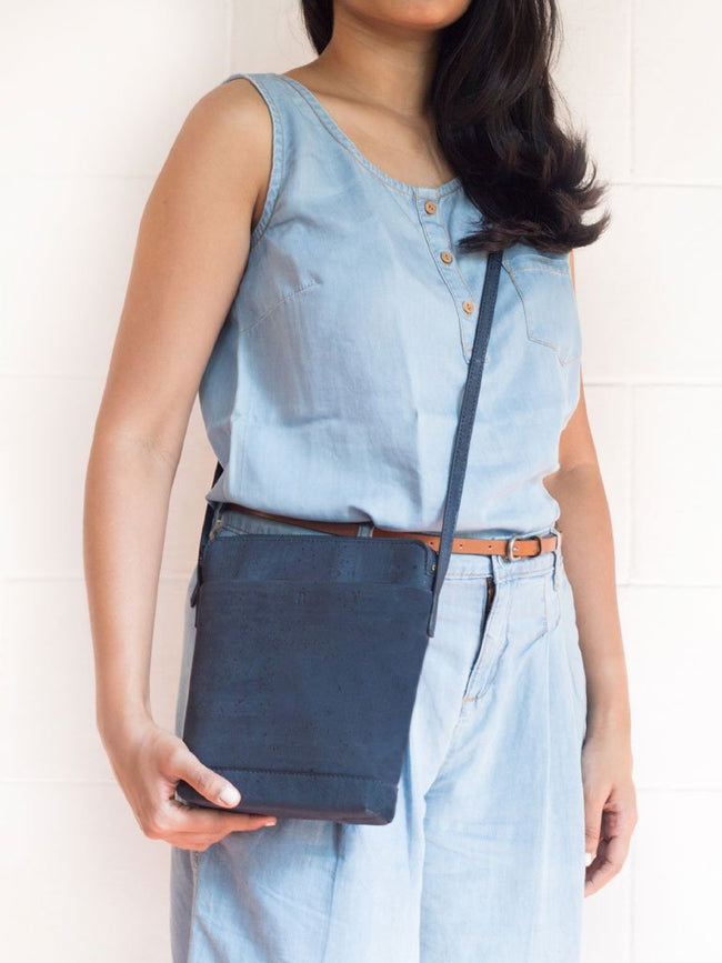Ava Blue Sling Bag - BAGS - IKKIVI - Shop Sustainable & Ethical Fashion
