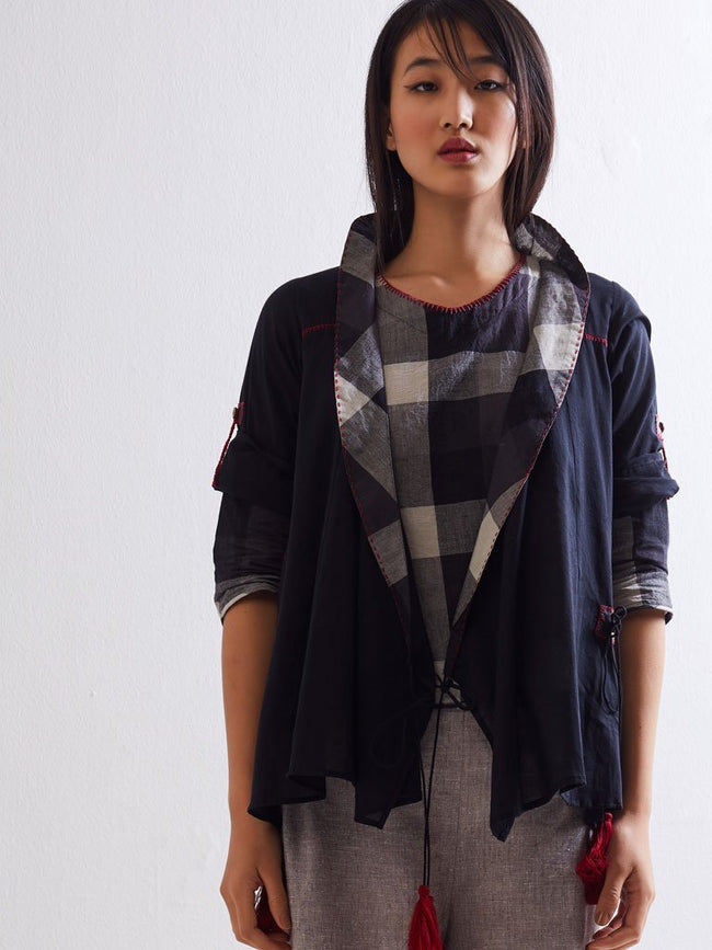 Sunroom Overlap Jacket - JACKETS - IKKIVI - Shop Sustainable & Ethical Fashion