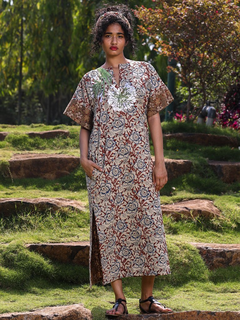 The 2 Print Kaftan - DRESSES - IKKIVI - Shop Sustainable & Ethical Fashion