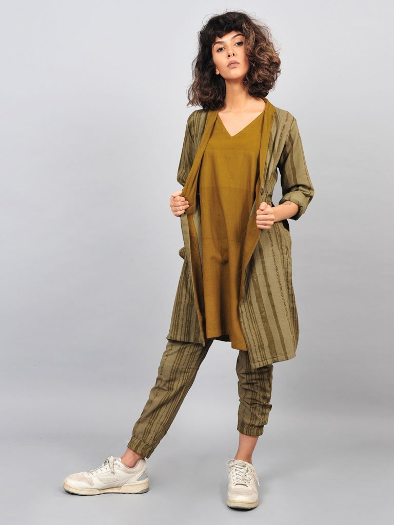 Three Piece Jogger Set - SKIRTS & TROUSERS - IKKIVI - Shop Sustainable & Ethical Fashion