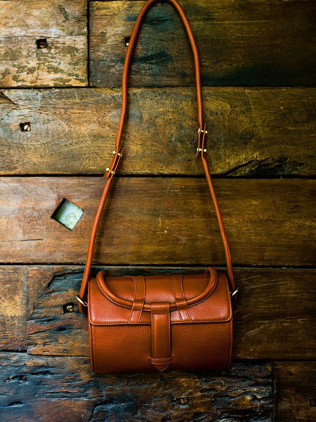 red sustainable leather charvi bag image