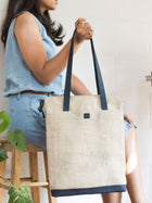 Aspen Blue Tote Bag - BAGS - IKKIVI - Shop Sustainable & Ethical Fashion