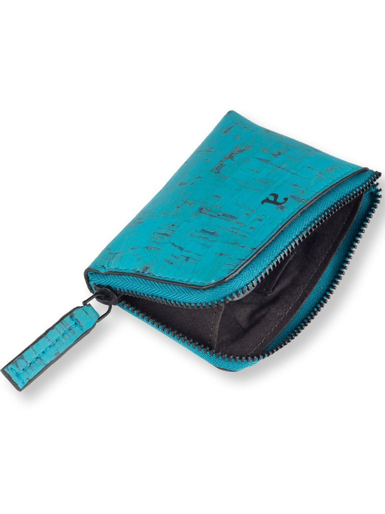 Aki Compact Teal Wallet - BAGS - IKKIVI - Shop Sustainable & Ethical Fashion