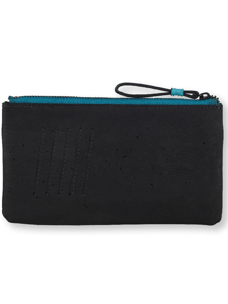 Slim Kim Teal Wallet back