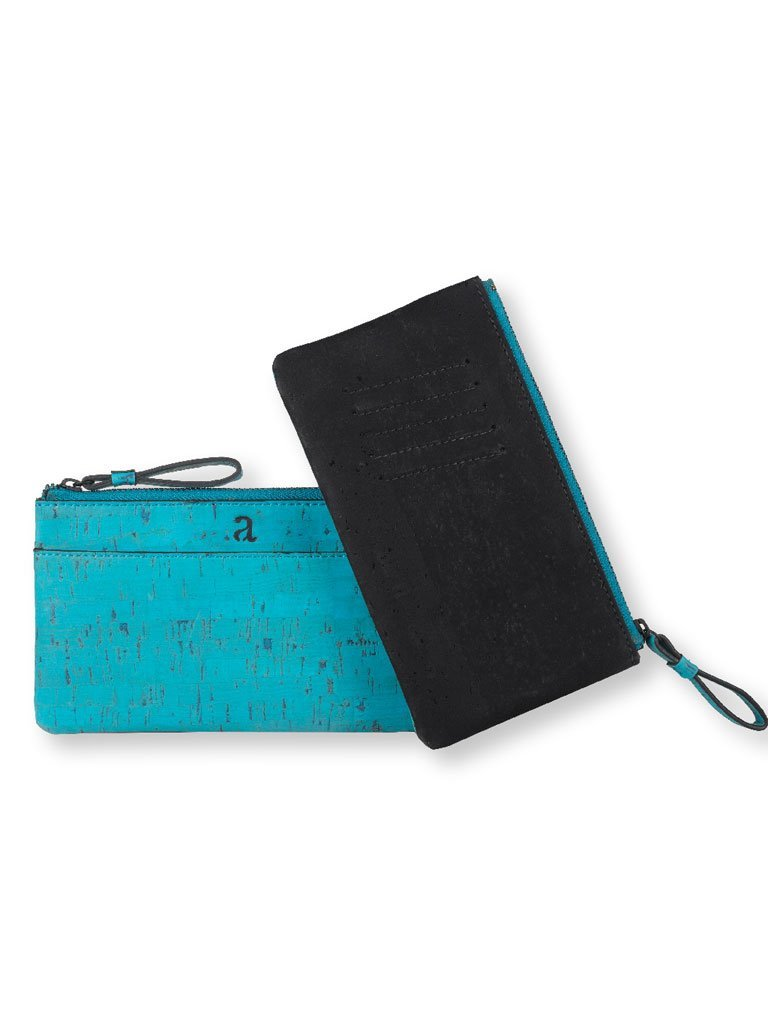 Slim Kim Teal Wallet - BAGS - IKKIVI - Shop Sustainable & Ethical Fashion