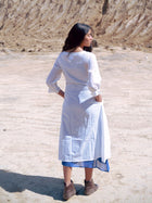 White Criss Cross Dress - DRESSES - IKKIVI - Shop Sustainable & Ethical Fashion