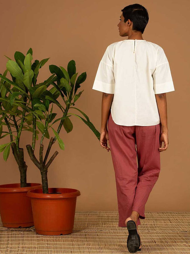 White Pleated Top - TOPS - IKKIVI - Shop Sustainable & Ethical Fashion