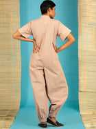 Brown Jumpsuit - SKIRTS & TROUSERS - IKKIVI - Shop Sustainable & Ethical Fashion