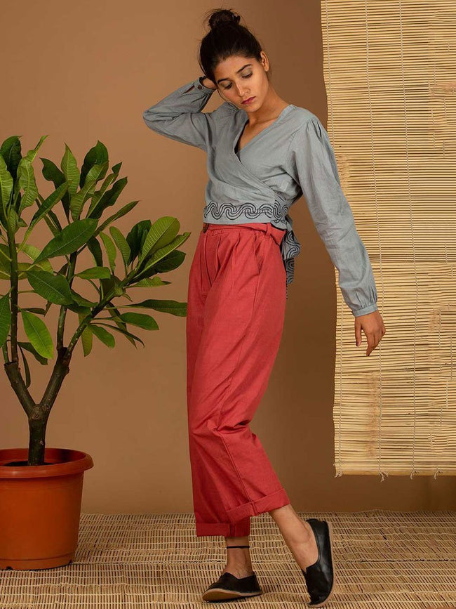 Blue Tie Top - TOPS - IKKIVI - Shop Sustainable & Ethical Fashion
