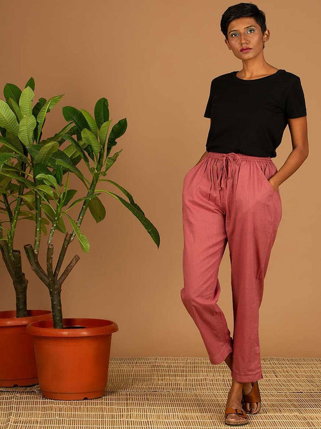 Red Pants - SKIRTS & TROUSERS - IKKIVI - Shop Sustainable & Ethical Fashion