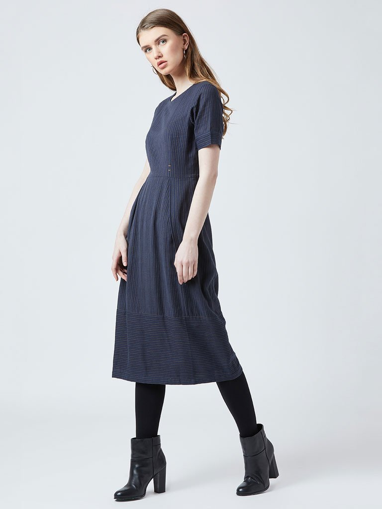 Knife Pleated Dress - DRESSES - IKKIVI - Shop Sustainable & Ethical Fashion