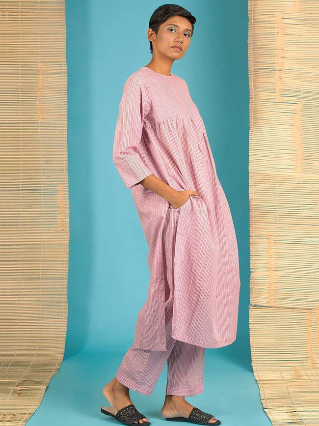 Pink Kurta - DRESSES - IKKIVI - Shop Sustainable & Ethical Fashion