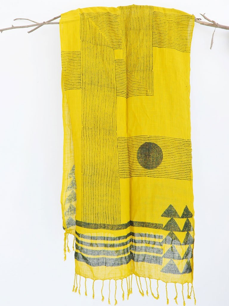 Stripe Cross Scarf - ACCESSORIES - IKKIVI - Shop Sustainable & Ethical Fashion