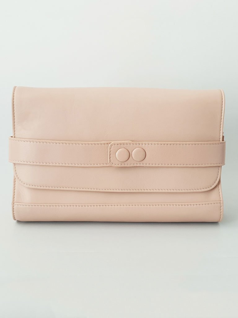 light pink sustainable upcycled leather bag image2
