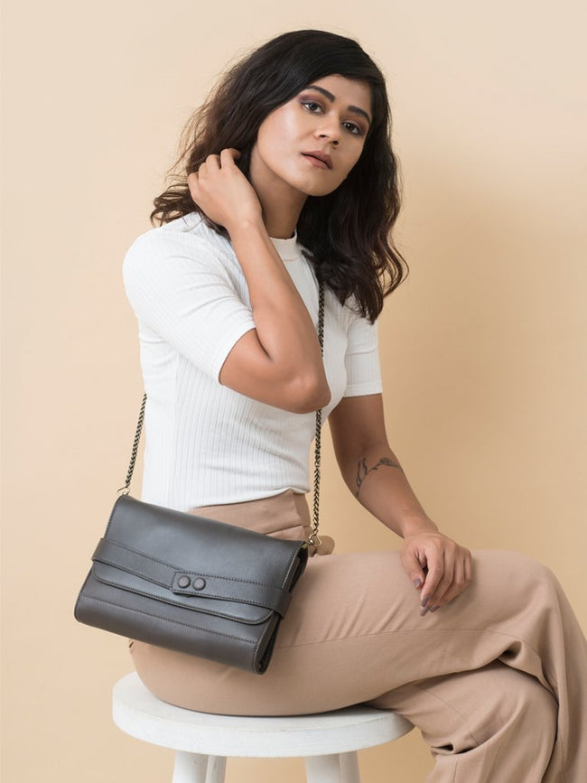 Bailey Slate Grey - BAGS - IKKIVI - Shop Sustainable & Ethical Fashion