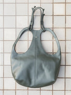 moss green sustainable leather tang backpack image3