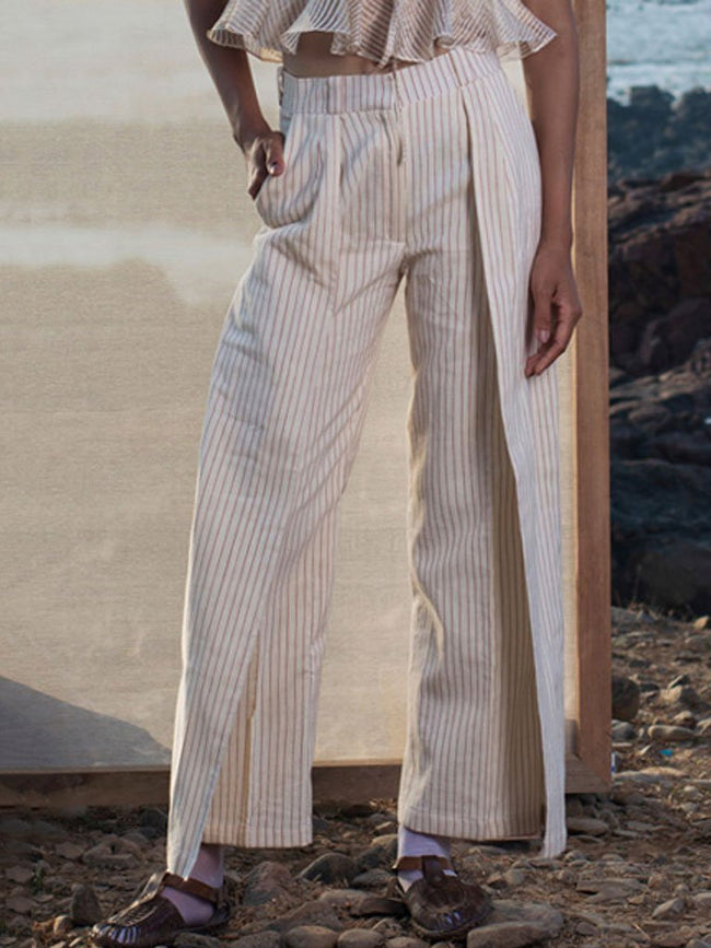 Pin Stripe Trouser - BOTTOMS - IKKIVI - Shop Sustainable & Ethical Fashion