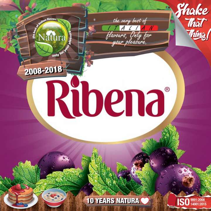 100ml Ribena Juice Shortfill E-liquid (Blackcurrant Juice)