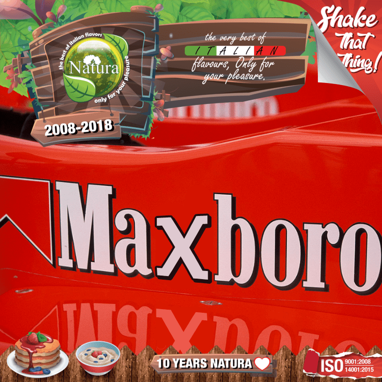100ml Maxboro Shortfill E-liquid (Medium-Strength Toasted Tobacco, Slight Honey)