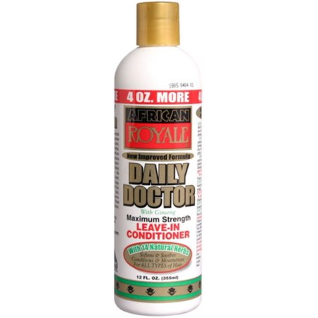 African Royale Daily Doctor Max Strength Leave In Conditioner w/ Ginseng, 12 fl oz