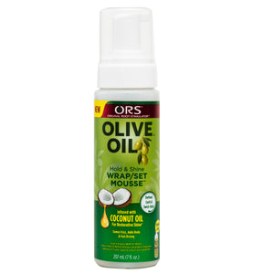 ORS Olive Oil Hold & Shine Wrap/Set Mousse, 7 fl oz