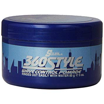 SCURL 360 Style Wave-Control Pomade, 3oz
