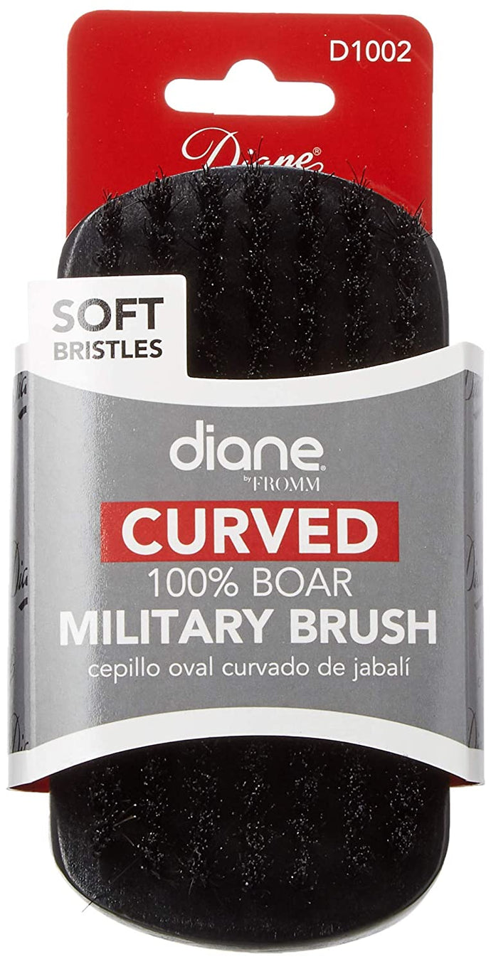 Diane Curved 100% Military Brush D1002