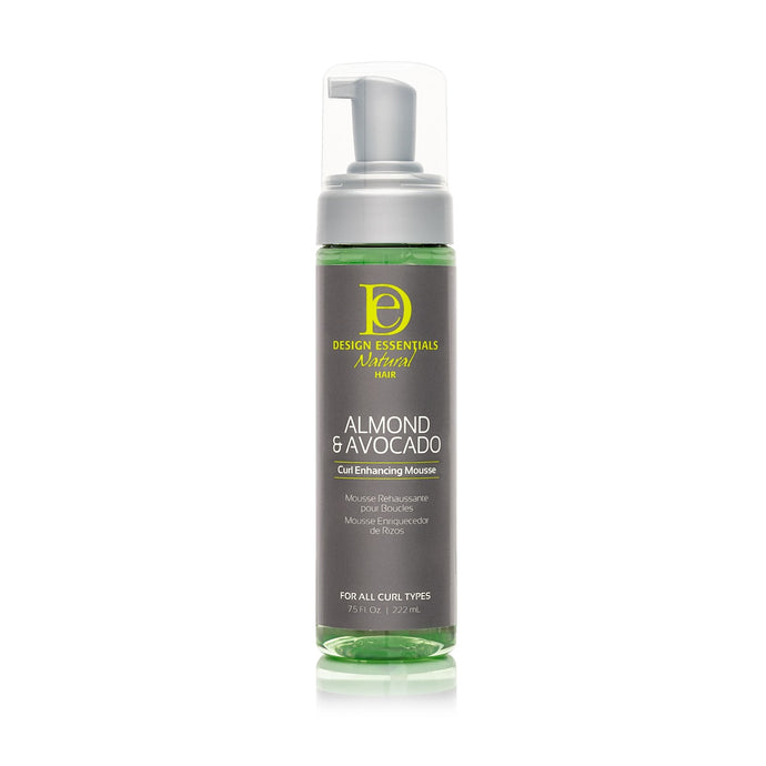 Design Essentials Nat.Almond & Avocado Curl Enhance Mousse, 7.5 oz.