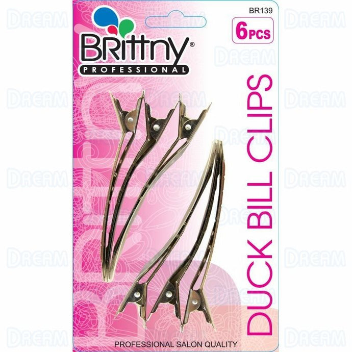 Brittny Duck Bill Clips 6pc - BR139