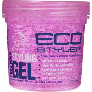 Eco Styler Professional Curl & Wave Firm Hold Styling Gel, Pink 16 oz