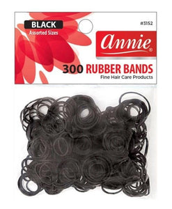 Annie Rubber Bands 300 Black Assorted  Item #3152