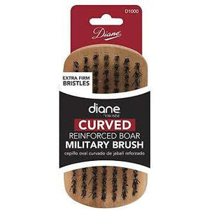 Diane curved reinforced military brush D1000