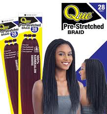 Que 3x Pre-Stretched Braid 28""