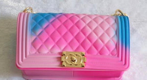 Large Jelly Gold Chain Purses