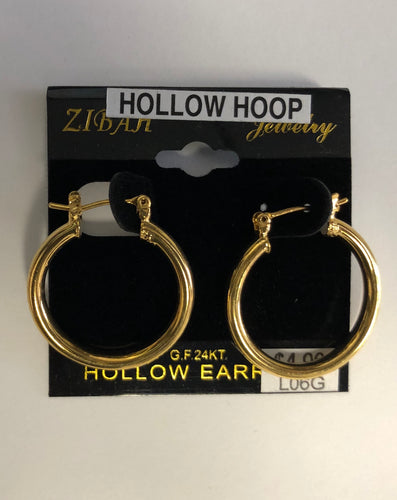 Gold Hollow Hoop Earrings (Small)