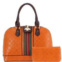 Bee Charm Dome Satchel with Wallet