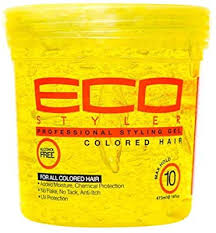 ECO STYLE COLORED HAIR GEL- Yellow (X-Firm) 32oz