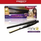 "Red 1/2"" Flat Iron with Temp Control"