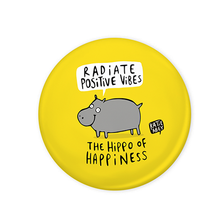 Hippo of happiness Badge