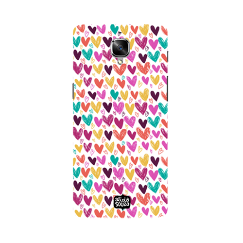 Hearts - Oneplus 3 Phone Cover - Alicia Souza