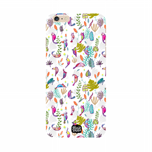Parrots and Peace White - iPhone 6 / 6s Phone Cover - Alicia Souza