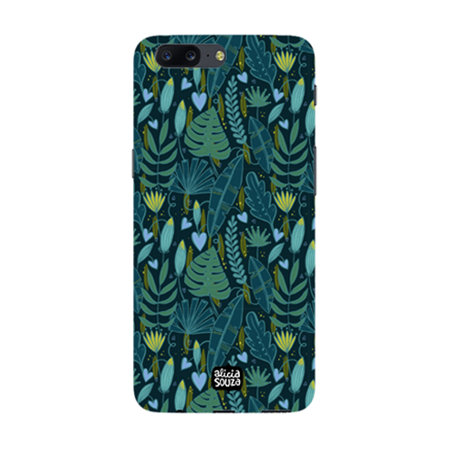 Green Leaves - Oneplus 5 Phone Cover - Alicia Souza