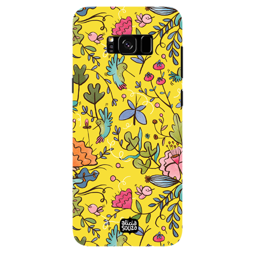 Humming Bird Yellow - Samsung Galaxy S8 Plus Phone Cover - Alicia Souza