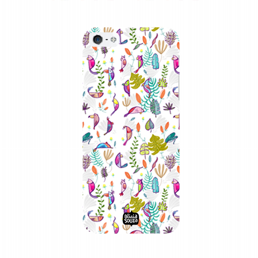 Parrots and Peace White - iPhone 5/ 5S Phone Cover - Alicia Souza