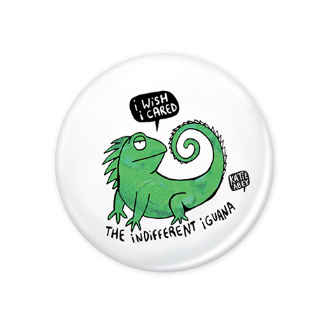 The Indifferent Iguana Badge