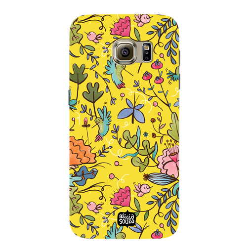 Humming Bird Yellow - Samsung Galaxy S7 Phone Cover - Alicia Souza
